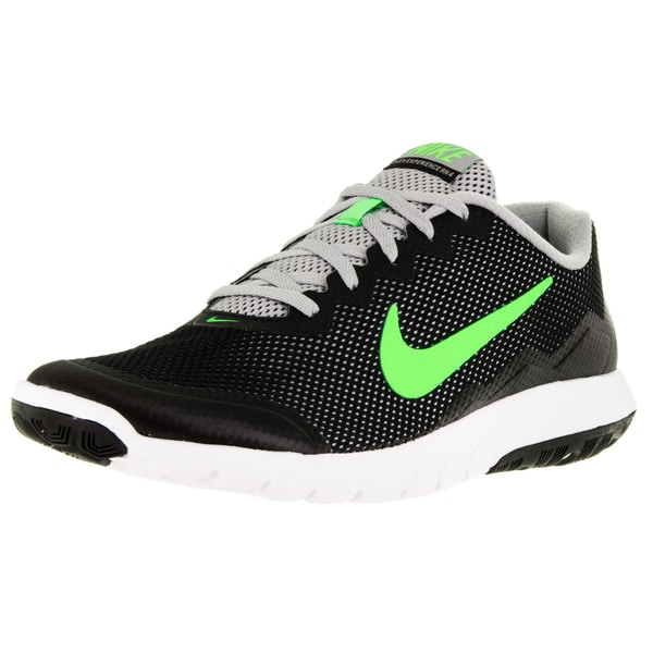 Nike Men's Flex Experience 4 Black/Electric Green/Flt Slvr/White Running Shoe