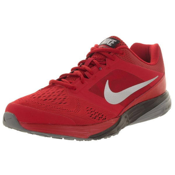 Nike Men's Tri Fusion Run University Red/Metallic Silver/Black/Cl G Running Shoe
