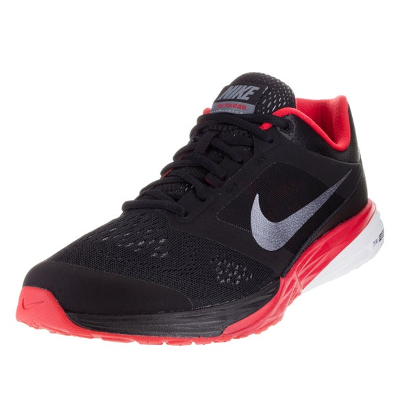 Nike Men's Tri Fusion Run Black/Metallic Cl Grey/University Red/Whi Running Shoe