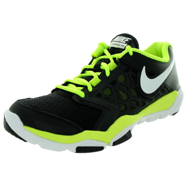 Nike Men's Flex Supreme Tr 4 Black/White/Volt Running Shoe