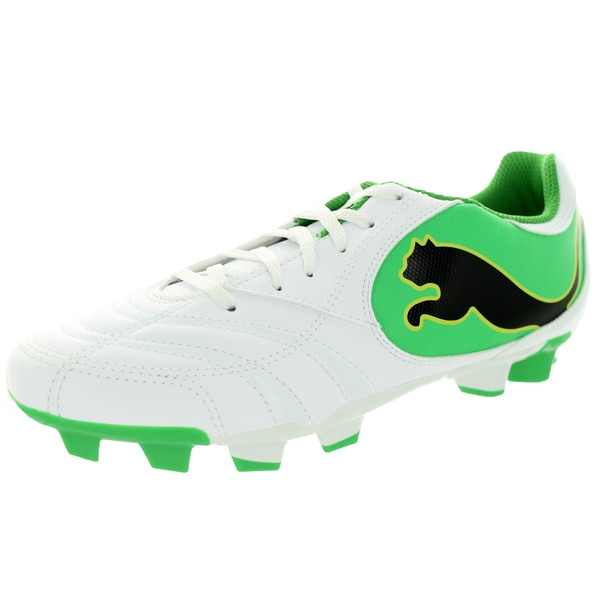 Puma Men's Powercat 4.10 Ii Fg White/Black/Island Green/Limeade Soccer Cleat
