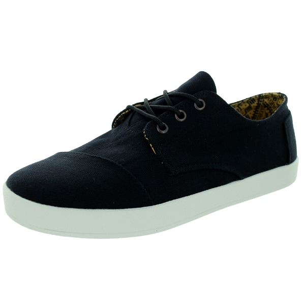 Toms Men's Paseo Black Herringbone Casual Shoe