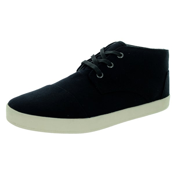 Toms Men's Paseo Mid Black Canvas Casual Shoe