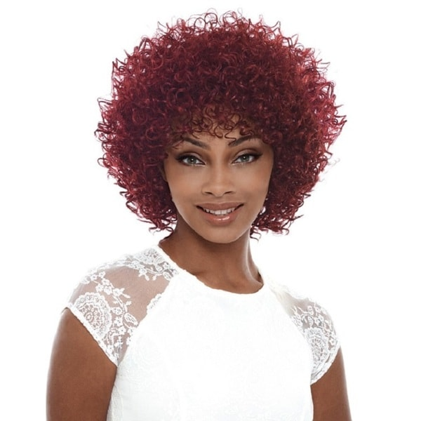 Janet Collection Marissa Brown Heat-resistant Fiber Curly Wig