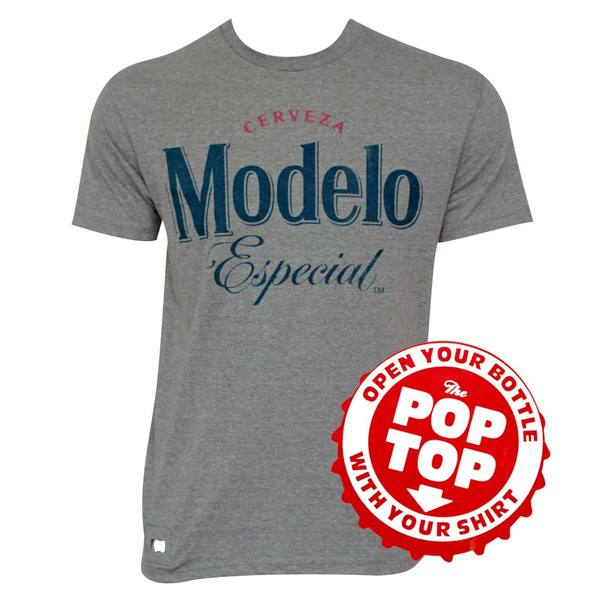 Modelo Grey Pop Top Bottle Opener T-shirt