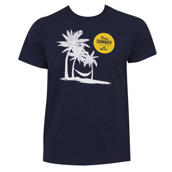 Men's Corona Extra Navy Blue Cotton Summer Promo T-shirt