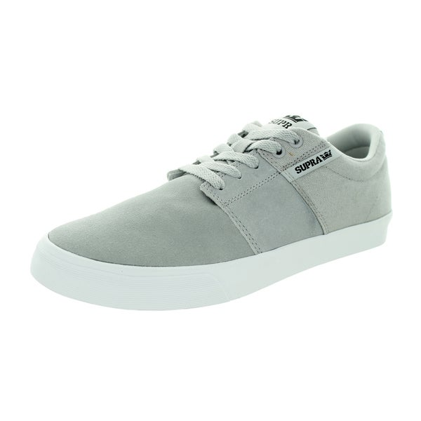 Supra Men's Stacks Vulc Ii Light Grey/White Skate Shoe