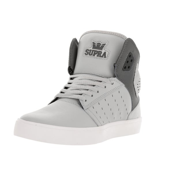 Supra Men's Atom Light Grey/Charcoal/White Skate Shoe