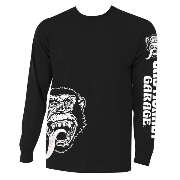 Gas Monkey Men's Black Cotton Logo Long-sleeve T-shirt