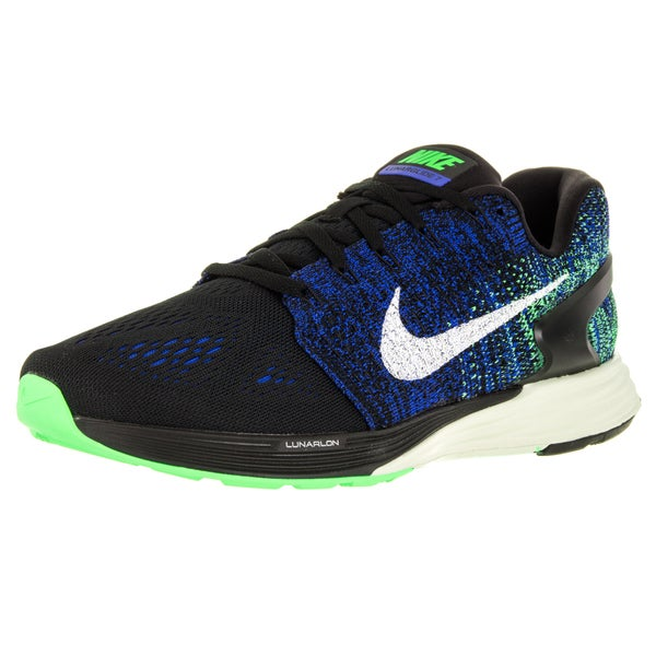 Nike Men's Lunarglide 7 Black/Sail/Racer Blue/ G Running Shoe