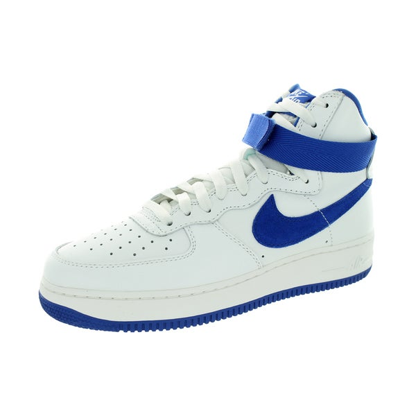 Nike Men's Air Force 1 Hi Retro Qs Summit White/Game Royal Basketball Shoe