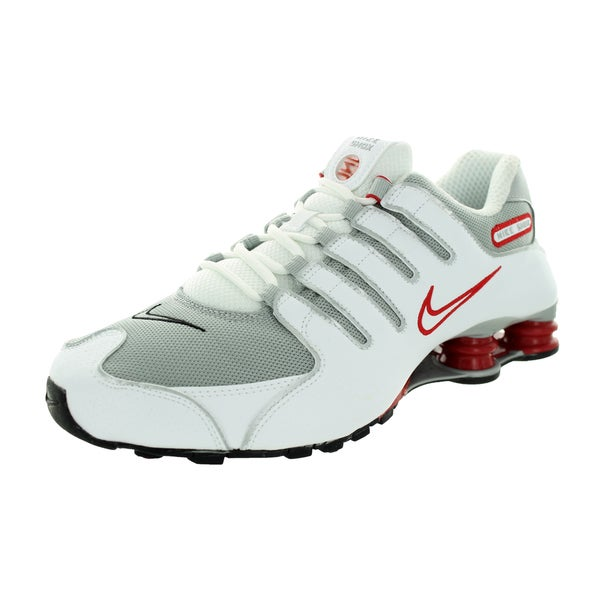 Nike Men's Shox Nz White/Metallic Silver/Sprt Rd/Cl Gr Running Shoe