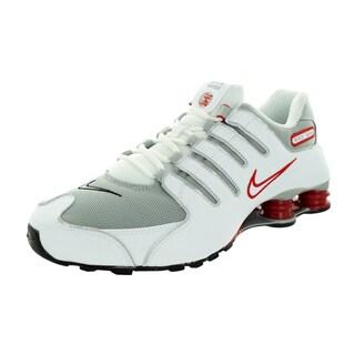 Nike Men's Shox Nz White/Metallic Silver/Sprt Rd/Cl Gr Running Shoe