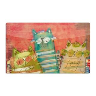 KESS InHouse Carina Povarchik 'Gatos' Cat Orange Artistic Aluminum Magnet