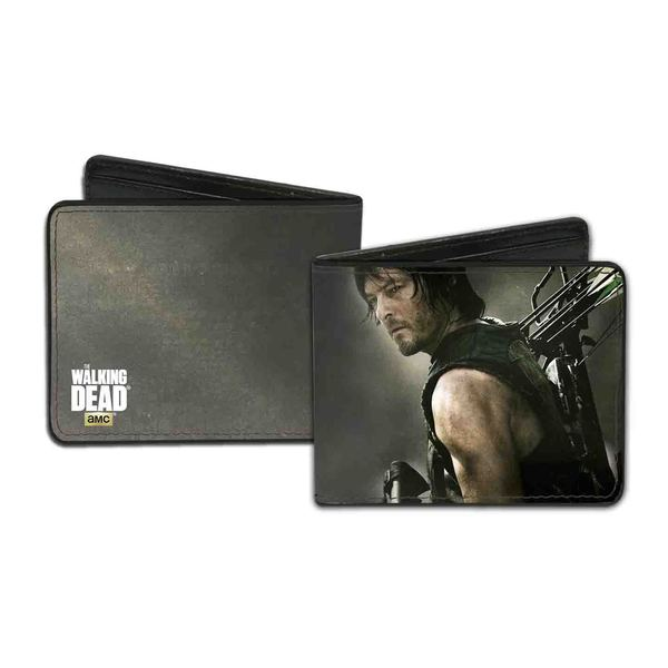 Men's Walking Dead Daryl Multicolor Faux Leather Wallet