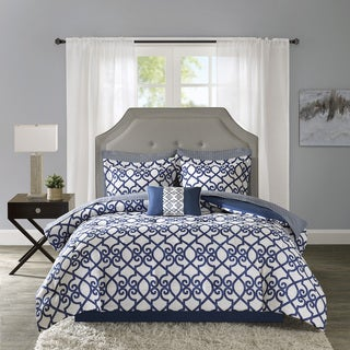 Madison Park Essentials Crystal Navy Complete Bed Set