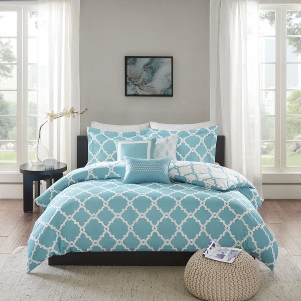 Madison Park Concord Aqua Duvet Cover Set