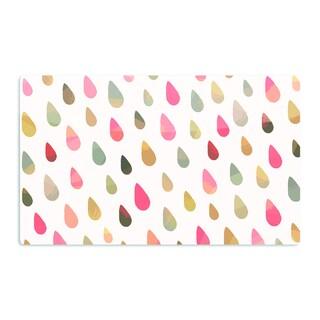 KESS InHouse Daisy Beatrice 'Opal Drops - Dusk' Peach White Artistic Aluminum Magnet