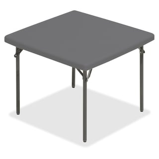 Iceberg IndestrucTable TOO Square Folding Table - Charcoal (Or Charcoal Gray)