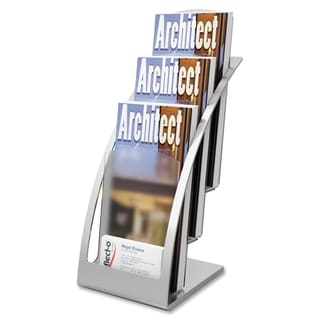 Deflect-o Contemporary Literature Holder - Silver