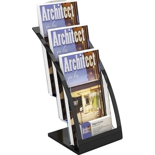 Deflect-o 3-tier Contemporary Leaflet Holder - Black