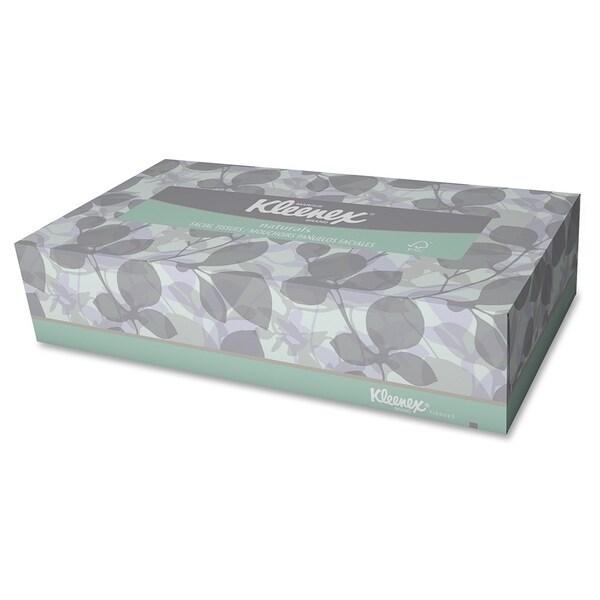 Kleenex Naturals Facial Tissue - White (125/Carton)