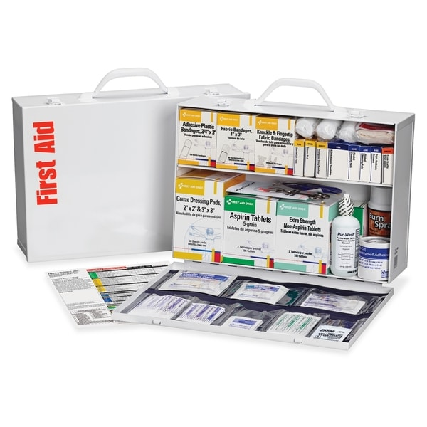 First Aid Only 2-shelf Industrial 1st Aid Station - White