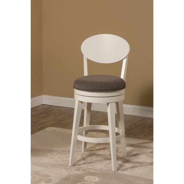 Hillsdale Highgrove Swivel Bar Stool, White