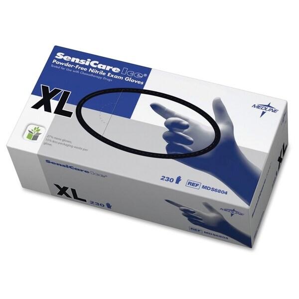 Medline SensiCare Ice Blue Nitrile Exam Gloves - Blue (230/Box)
