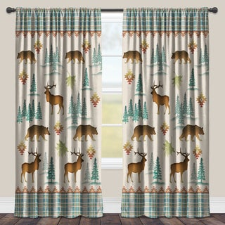 Laural Home 'Into the Woods' Multicolored Room Darkening Window Curtain