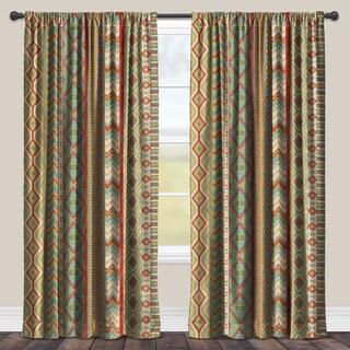 Laural Home Sage Polyester Room Darkening Window Curtain