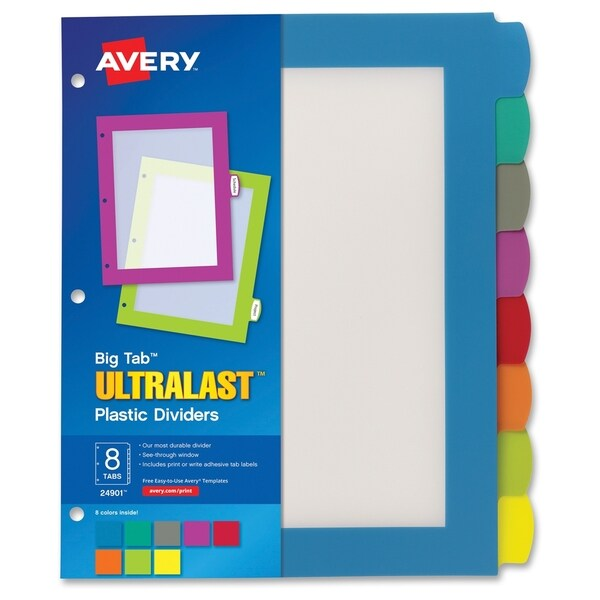 Avery Write & Wipe A6 Sheets, 102 x 152 mm - Multi (8/Set)