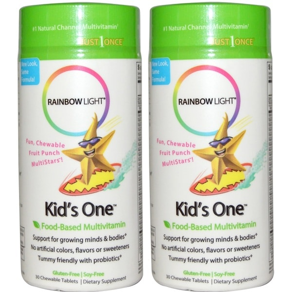 Rainbow Light Kid's One Multistars Multivitamin (30 Chewable Tablets)