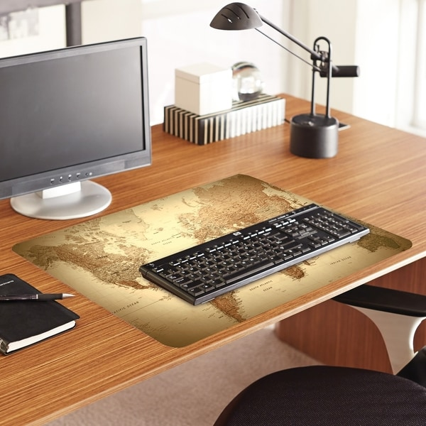 ES Robbins World Map Printed Designer Desk Pad - Custom