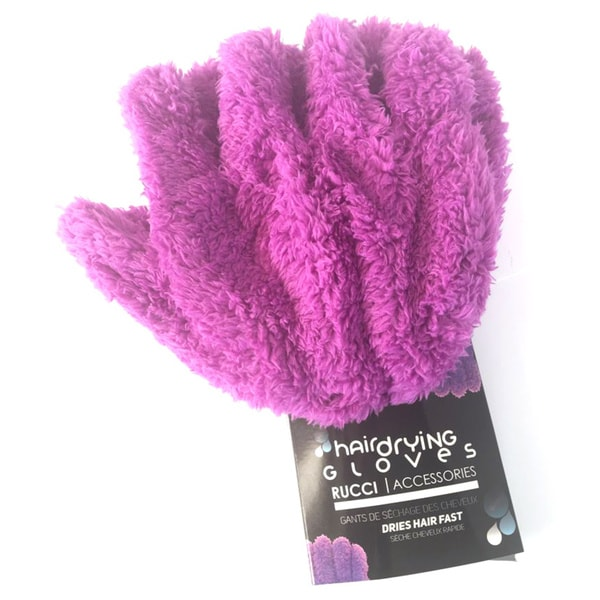 Rucci Accessories Pink or Purple Micro Weave Fiber Hair Drying Gloves