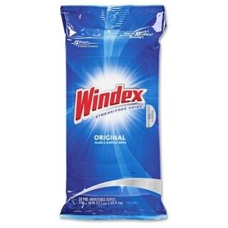 Windex Original Glass & Surface Wipes - White (28/Carton)