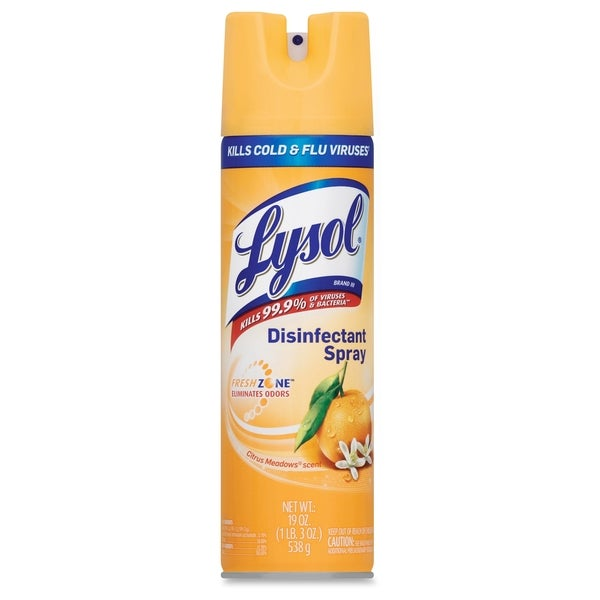 Lysol Citrus Disinfectant Spray - Clear (1/Carton)