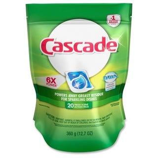 Cascade Dishwasher Action Pacs - White/Blue (20/Carton)