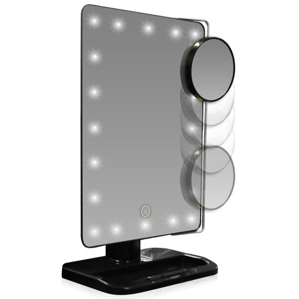 led lighted movable 10x magnification vanity mirror. Black Bedroom Furniture Sets. Home Design Ideas