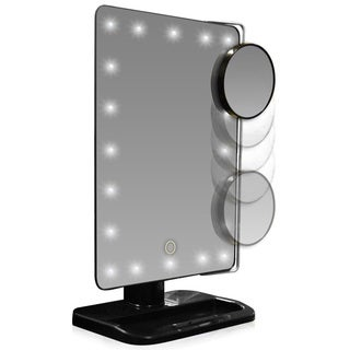 LED Lighted Movable 10x Magnification Vanity Mirror