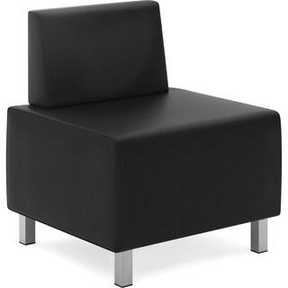 Basyx by HON Modular Leather Lounge Chair - Black