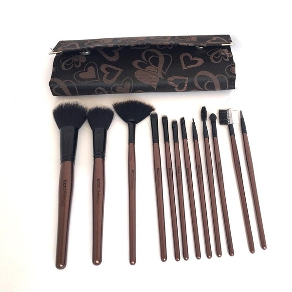 The Ultimate Lush 12-piece Roll-up Makeup Brush Set
