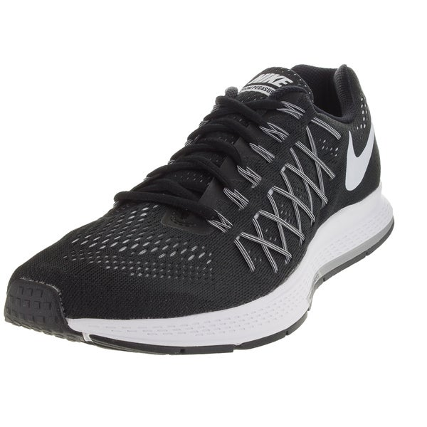Nike Men's Air Zoom Pegasus 32 Black/White/Pure Platinum Running Shoe