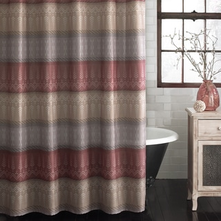 Excell Wesley Warm Spice Stripe Shower Curtain