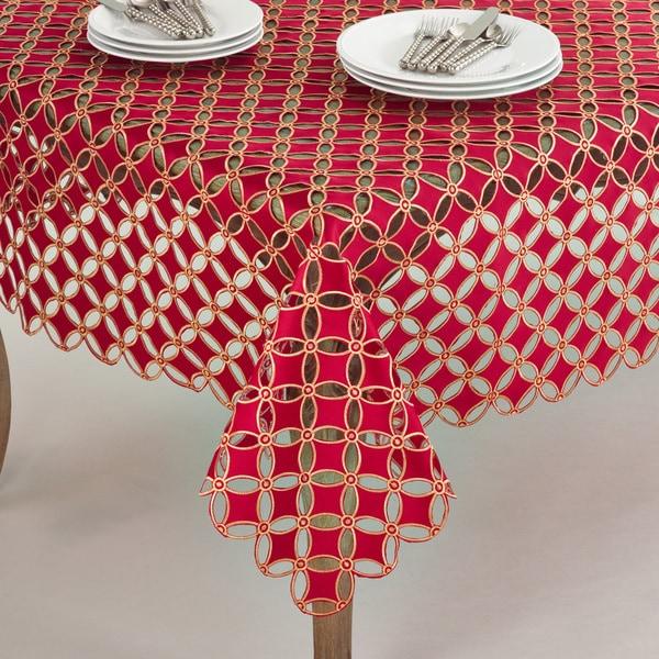 Buche de Noel Collection Cutwork Design Tablecloth