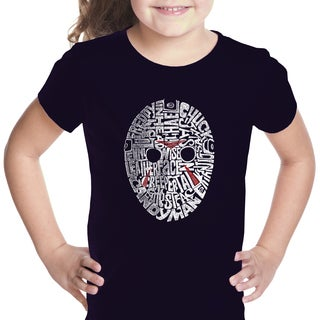 Los Angeles Pop Art Girl's Cotton Graphic Short Sleeve T-shirt
