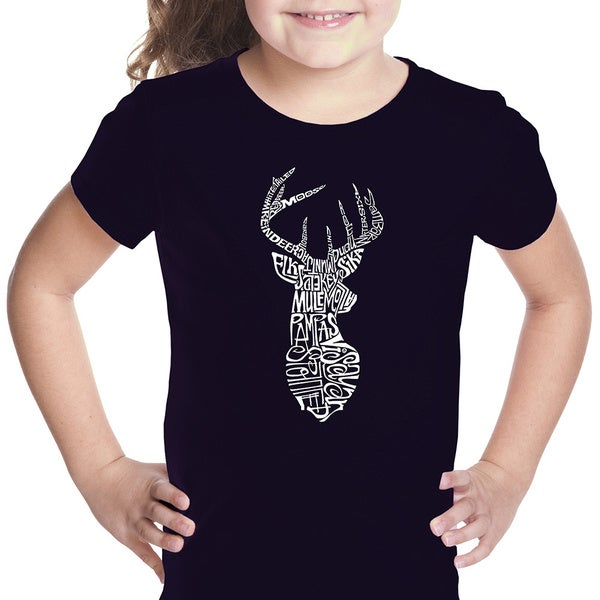 Girls' Types of Deer Cotton T-shirt
