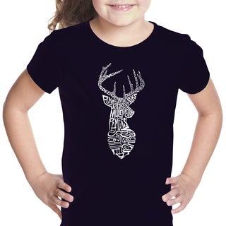 Girls' Types of Deer Cotton T-shirt