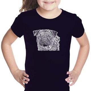 Girls' Pug Face Cotton Short-sleeve Graphic T-shirt