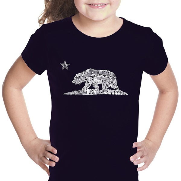 Girls' California Bear Cotton T-shirt